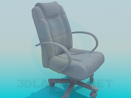 3d model manager's chair - preview