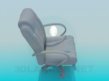 modelo 3D silla del encargado - escuchar