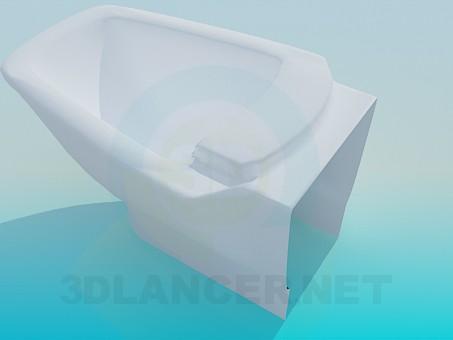 3d модель Биде прямоугольной формы – превью