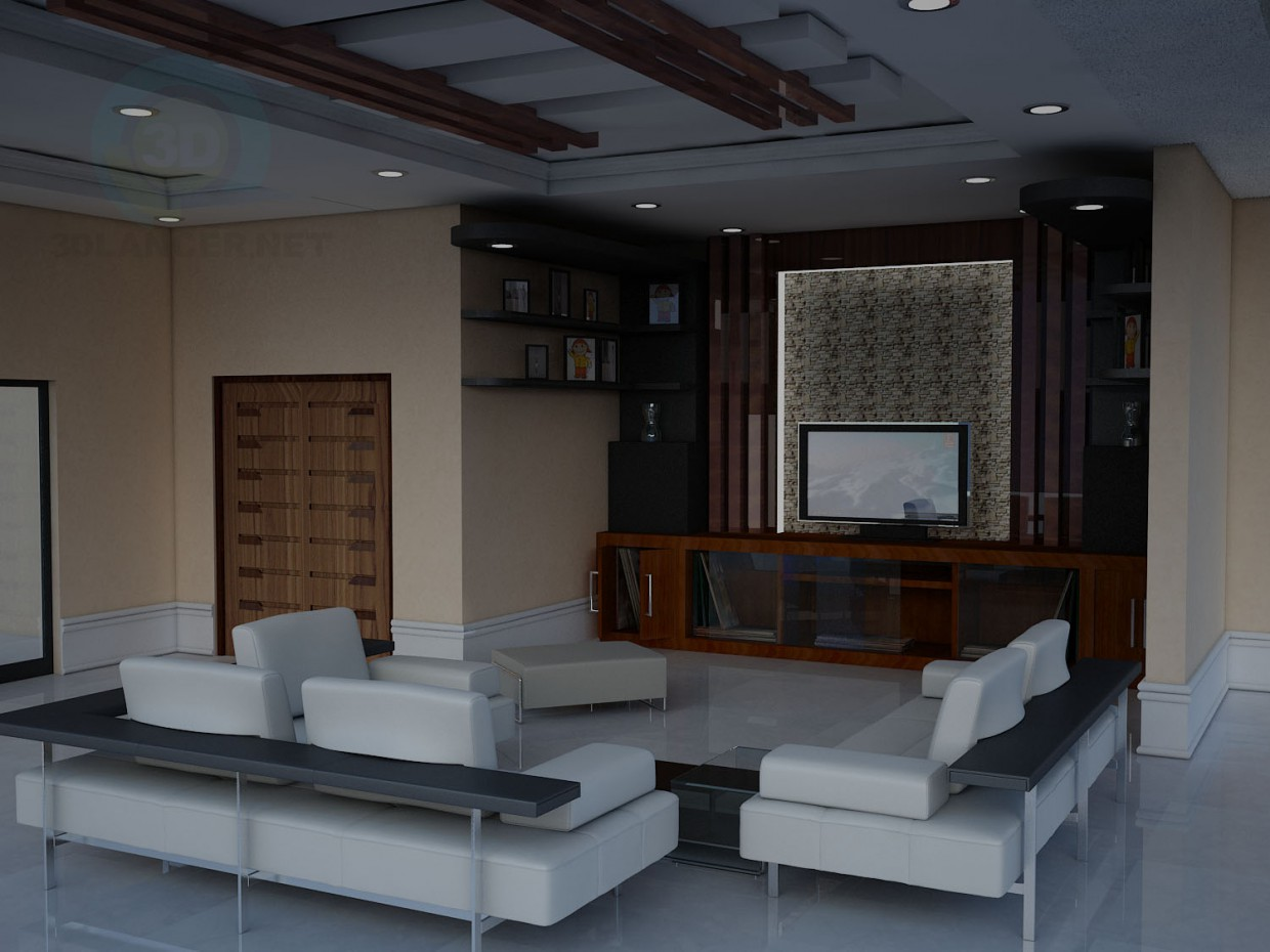 3d model Living room - preview