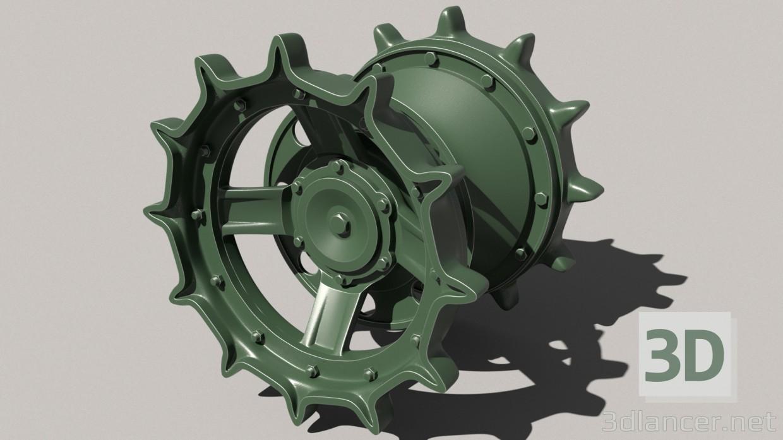 3d modeling Leading wheel t-72-80-90 model free download