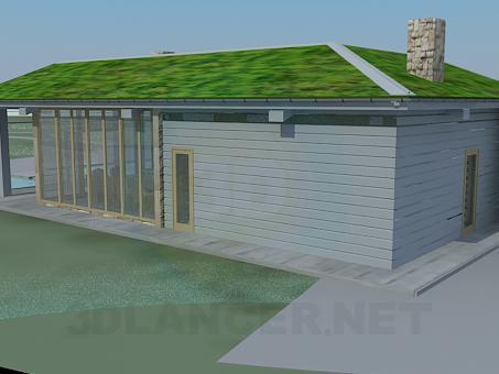 3d модель Дом с басейном – превью
