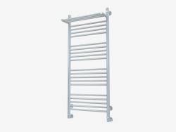 Heated towel rail Bohemia with shelf (1200x500)