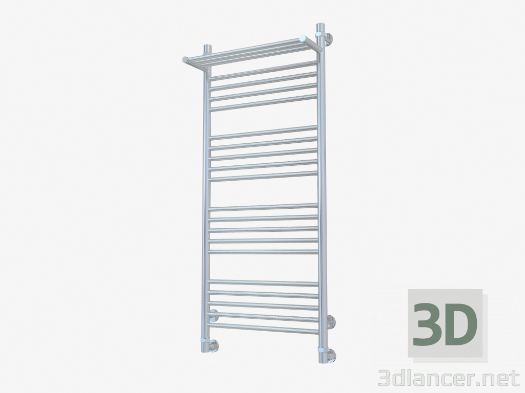 3d model Heated towel rail Bohemia with shelf (1200x500) - preview