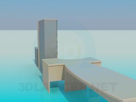 modelo 3D Muebles en la oficina - escuchar
