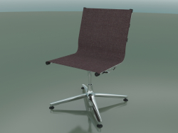 Chair rotating on 4 supports with fabric upholstery (1201)
