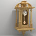 3d wall clock Pavel Bure model buy - render