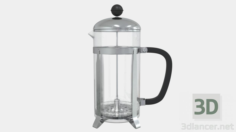 3d Kettle - press kettle model buy - render