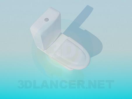 3d модель Унитаз со сливным бачком – превью