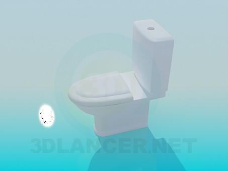 3d модель Унітаз із зливним бачком – превью