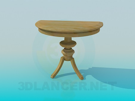 3d model Parietal table - preview
