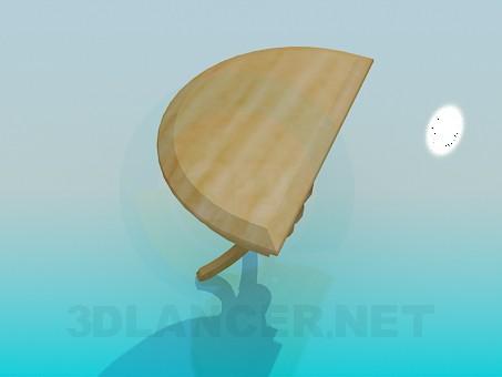 3d модель Пристінковий столик – превью