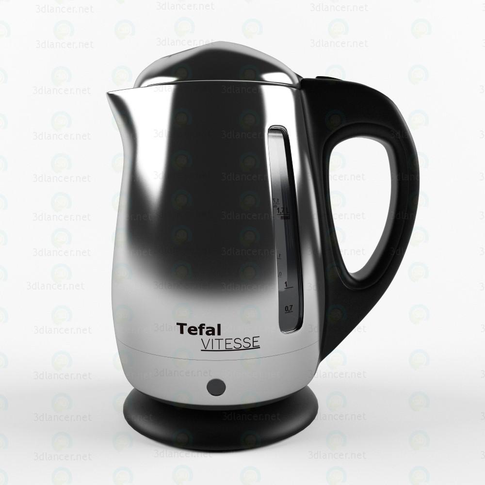 Hervidor de agua Tefal Vitesse 3D modelo Compro - render