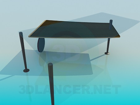 3d model Coffee table with sliding table top - preview