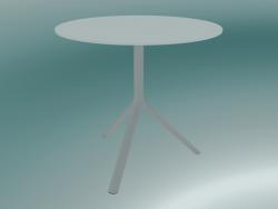 Tavolo MIURA (9591-01 (Ø80cm), H 73cm, bianco, bianco)