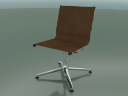 Chair rotating on 4 legs with leather upholstery (1201)