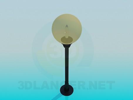 3d моделирование Уличный фонарь модель скачать бесплатно
