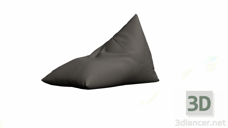 3d Large pouf model buy - render