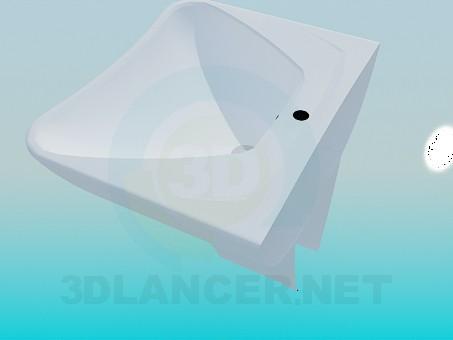 modelo 3D Lavamanos trapecio - escuchar