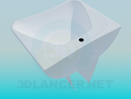 3d model Trapezoid sink - preview