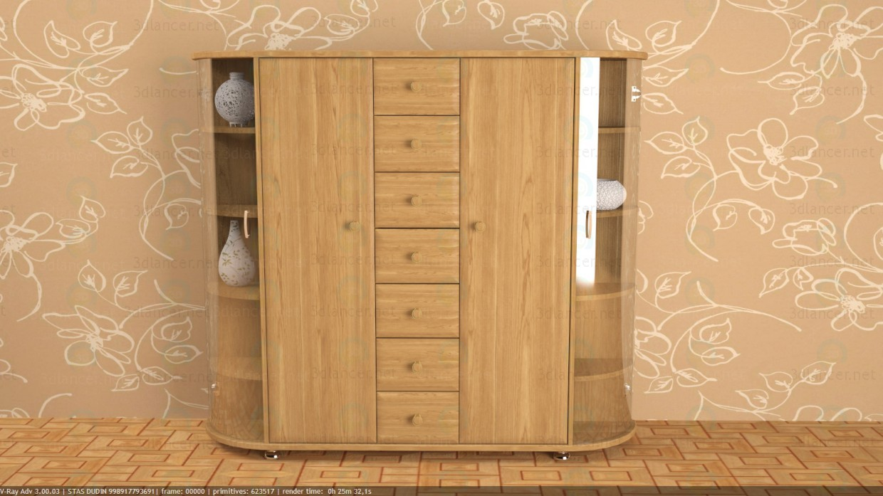 3d model Chest of drawers - preview