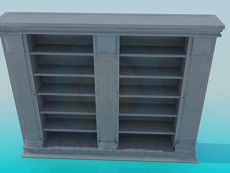 3d моделирование Книжный шкаф модель скачать бесплатно