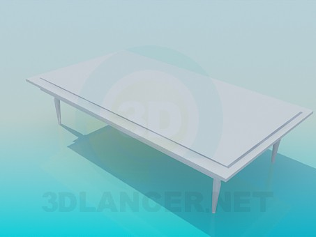 3d modeling Big coffee table model free download