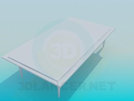 3d модель Большой журнальный столик – превью