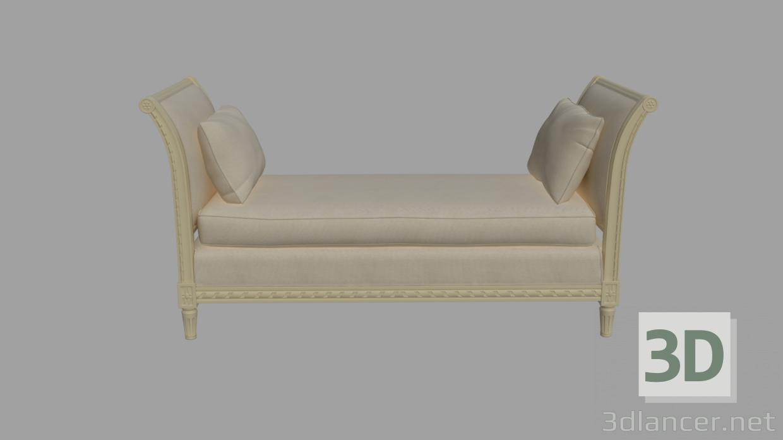 3d Classic bench model buy - render