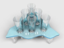 A set of glasses with stand