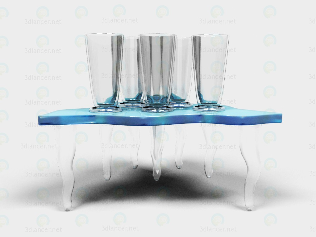 3d A set of glasses with stand model buy - render