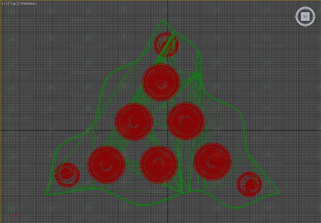 Un conjunto de vasos con el soporte 3D modelo Compro - render