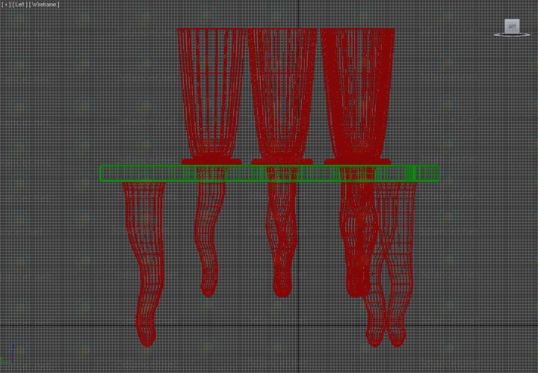 3d Набор бокалов с подставкой модель купить - ракурс