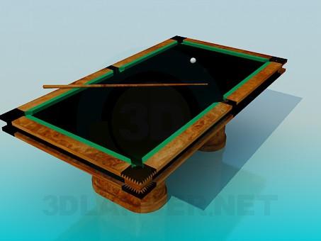 modelo 3D Mesa de billar - escuchar