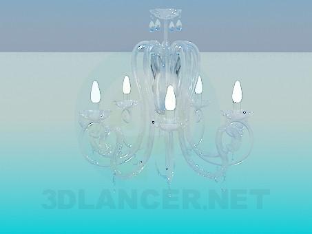 3d моделирование Стеклянная люстра модель скачать бесплатно