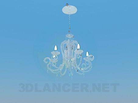 3d модель Стеклянная люстра – превью