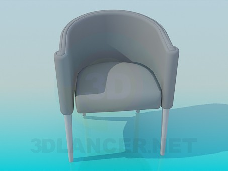 3d modeling Semicircular seat model free download