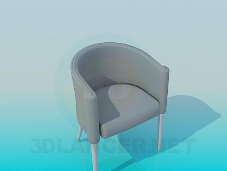 3d модель Напівкругле крісло – превью