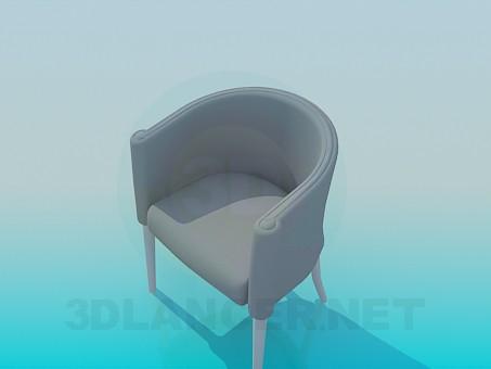 modelo 3D Asiento semicircular - escuchar
