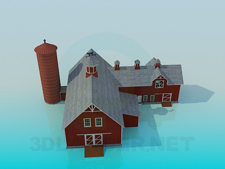 3d model Farm - preview