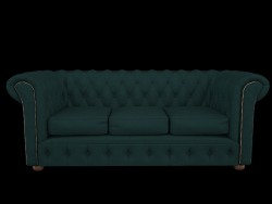 Chesterfield sofa snake skin