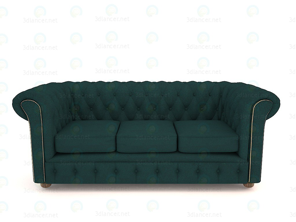 3d Chesterfield sofa snake skin model buy - render