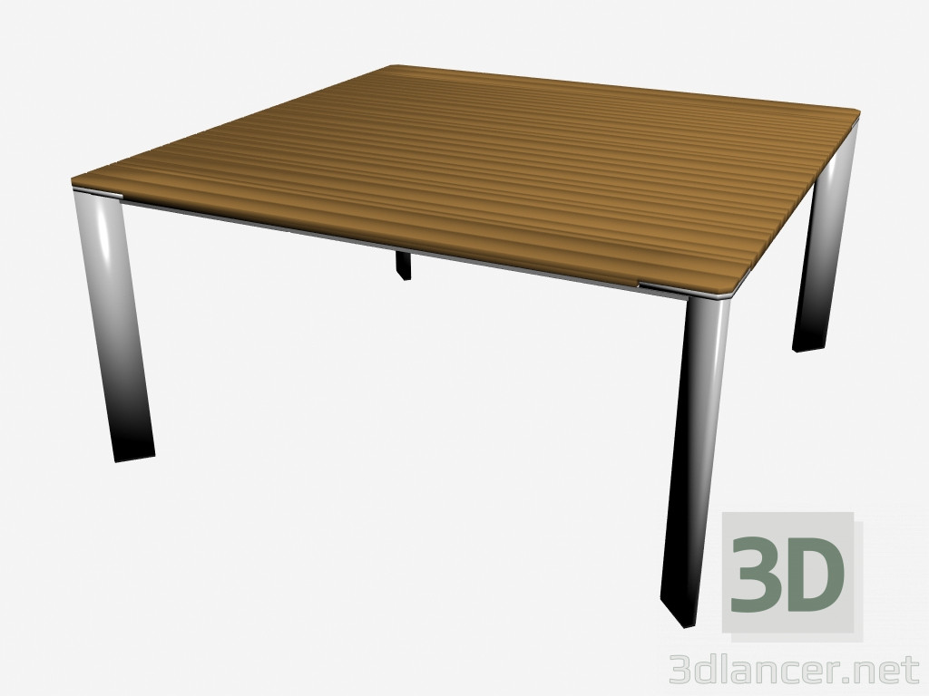 3d model sunset dining table 150 x 150 wood manufacturer for Table carree 150 x 150