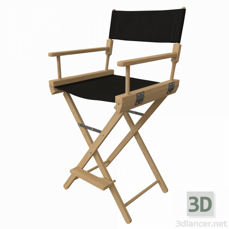 3d Director's chair model buy - render