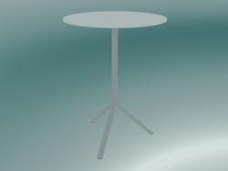 Tavolo MIURA (9591-71 (Ø80cm), H 108cm, bianco, bianco)