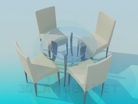3d моделирование Чайный столик модель скачать бесплатно