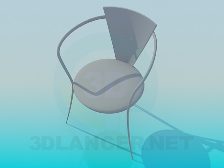 3d модель Стільчик в кафе – превью