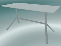 Tavolo MIURA (9586-01 (70x140cm), H 73cm, bianco, bianco)