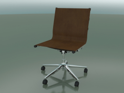 5-wheel swivel chair with leather upholstery (1210)