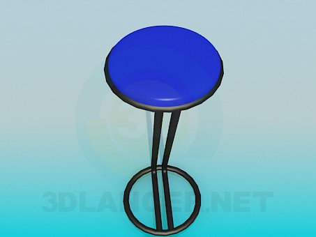 3d model Stool in bar - preview